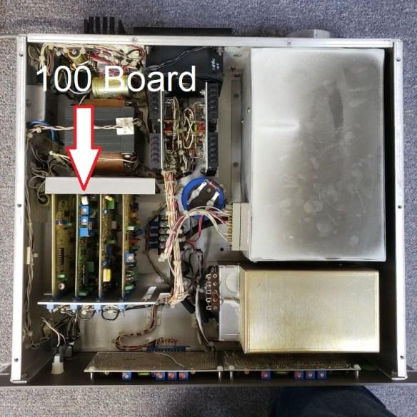 R100 board location in 20-610