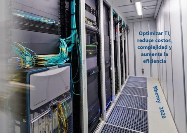 Optimizar TI, reduce costos, complejidad y aumenta la eficiencia