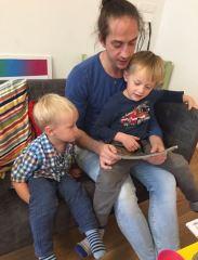 Max mit seinen beiden Kindern