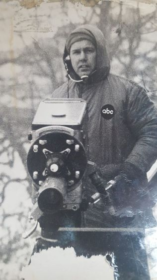 After the war, Don Farnham embarked on a long career as a cameraman for ABC-TV (above), winning two Emmys for his work. | Provided