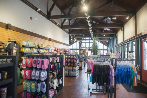 The inside of the Wildlife Trading Post gift shop at the Brookfield Zoo. | ALEX ROGALS/Staff Photographer