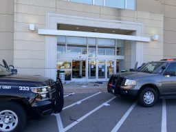 Looters broke into both the north and east (above) entrances at Kohl's in North Riverside on May 31. | Bob Uphues/editor