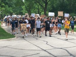 A crowd of 250, mostly young people turned out to march in support of police reform and ending systemic racism in Riverside on June 9. | Bob Skolnik/Contributor