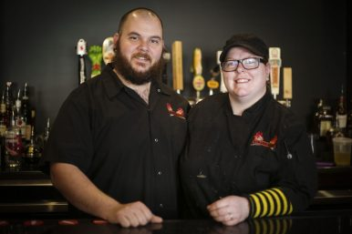 Burger Antics owners Dan and Brenna Velcich (FILE)