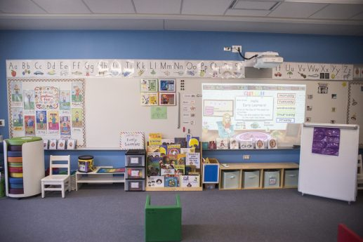 One of the new early learning classrooms is seen on Sept. 2, at A.F. Ames Elementary School in Riverside. (Alex Rogals/Staff Photographer)