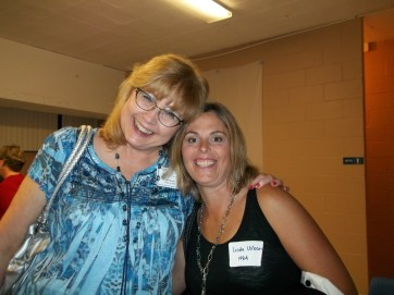 Julie Kucko, Class of 1974, and Linda Urban, Class of 1984, are friends between a decade. Photo by Chris Stach.