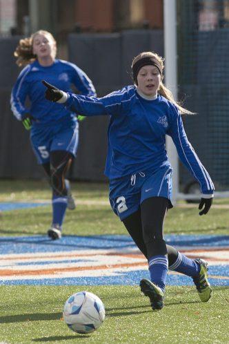 Caroline Waas is one of three seniors leading the Riverside-Brookfield girls soccer team. (David Pierini/Staff Photographer)