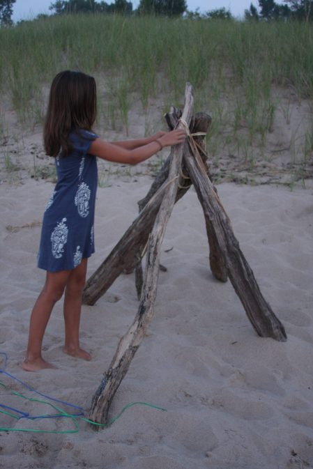 Driftwood Teepee by Lily Conybeare
