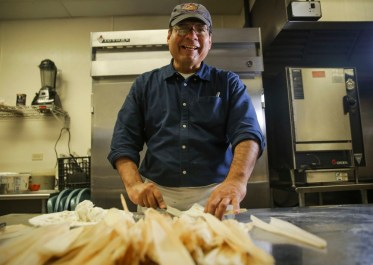 Tamales with a side of culture: Jamie Flores has turned his restaurant into an unlikely culture and entertainment venue, hosting readings, music, art and comedy. | Chandler West/Staff Photographer