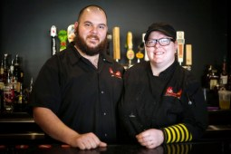 Burger Antics Owners Dan and Brenna Velcich at their restaurant, 3740 Grand Blvd., in Brookfield, on Thursday, April 16, 2015. | CHANDLER WEST/Staff Photographer
