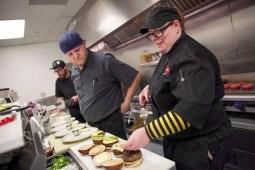 Owner Dan Brenna Velcich prepares burgers at the restaurant, 3740 Grand Blvd., in Brookfield, on Thursday, April 16, 2015. | CHANDLER WEST/Staff Photographer
