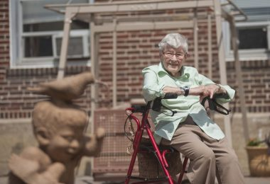Lois Palmer Huth, 97, is a sculptor who is still active and has created over 6,000 sculptures in her career. Lois graduated from the School of the Art Institute of Chicago in 1938 and hasn't slowed much down. A piece she donated to Canata Adult Life Services, where she currently resides, will kick off a summer arts series at Canata on May 31. | William Camargo/Staff Photographer
