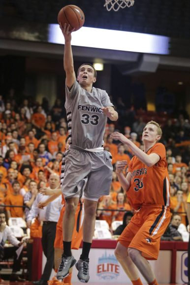 Fenwick forward Mike Ballard expanded his game last season by developing his dribble drive game and post moves. Next season, he and fellow senior Mike Ballard headline the Friars, who have the potential to be one of the best teams in the Chicagoland area. (File photo)
