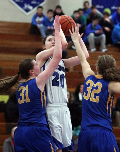 The Bulldogs' tower of power in the paint is 6-foot-7 junior center Dana Rettke. She's also a prolific volleyball player who has verbally committed to play college volleyball at Wisconsin. (File photo)