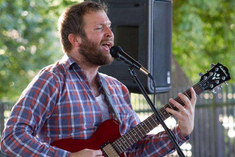 Hops Lager performs at HopStop, a craft beer festival held at the Riverside train station, and sponsored by Riverside Foods and the Frederick Law Olmsted Society, on Sept. 12. | Stacey Rupolo/Contributor