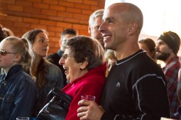 Etta Sacharski, left, and her son Mike Sacharski, right, enjoy the music of The Leadfoot Band. | Stacey Rupolo/Contributor