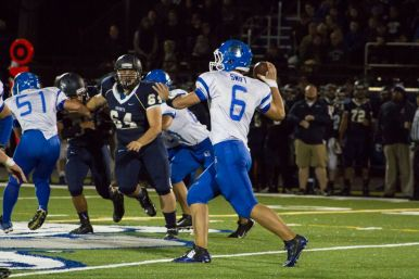 Although he ran the ball well against Immaculate Conception, RBHS senior quarterback Ryan Swift threw three interceptions against the Knights in a 15-7 loss Friday (Oct. 2) at the Kennelly Athletic Complex. (Stacey Rupolo/Contributing Photographer)