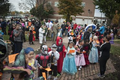 Children wore their cutest, scariest and most creative costumes during the Oct. 24 Monsters on Mainstreet event in downtown Brookfield. After trick-or-treating along Grand Boulevard, the kids headed to the Grossdale Station for a costume contest. | William Camargo/Staff Photographer