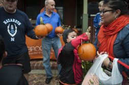 Free pumpkins were handed out at the event. | William Camargo/Staff Photographer