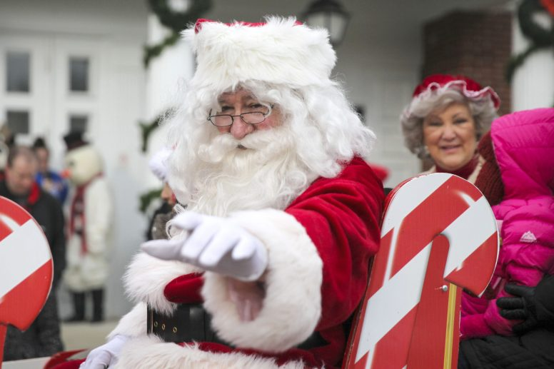 Ho, ho, holidays! Santa and Mrs. Claus arrived at the Brookfield Village Hall last December in a horse-drawn sleigh to kick off the holiday season. | FILE 2014