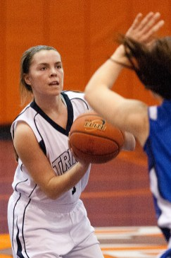 Trinity senior Annie McKenna is averaging 11 points, eight assists and four steals this season. (File photo)