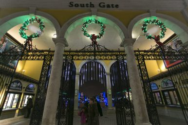The decorated South Gate at the Brookfield Zoo for the 2016 New Years Eve celebration.   Rick Majewski/Contributor