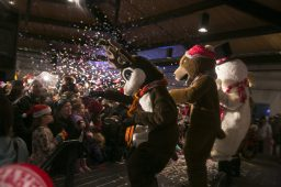 Animal mascots dancing on stage at the Brookfield Zoo to celebrate the coming of 2016.   Rick Majewski/Contributor