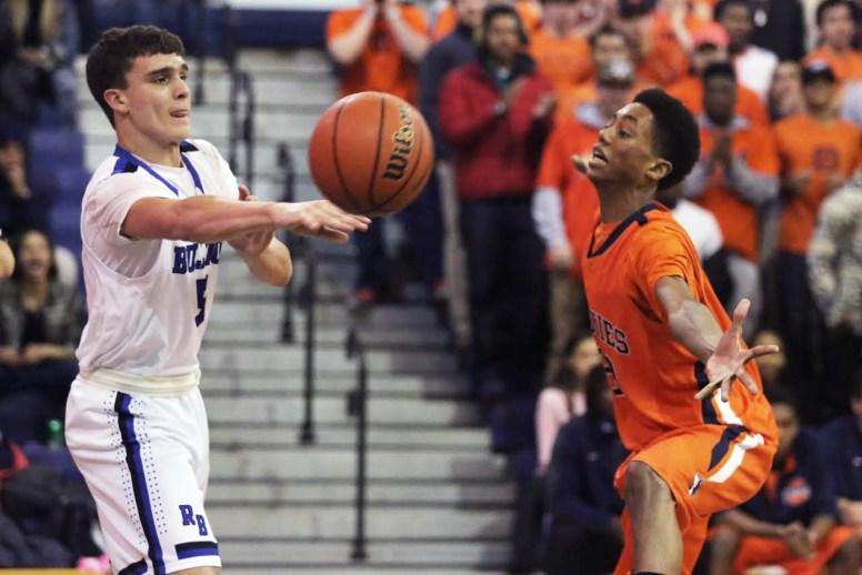RBHS junior Henry Trelenberg had 19 points and five rebounds in his season debut as the Bulldogs cruised past visiting Glenbard South 73-58 on Friday, Jan. 13 (File photo)