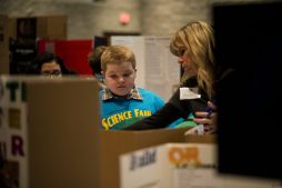 Kenny Fedorski a 6th grader from Komarek Elementary explains his science project. | William Camargo/Staff photography
