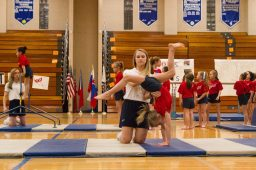 The girls gymnastics class perform various routines. | Stacey Rupolo/Contributor