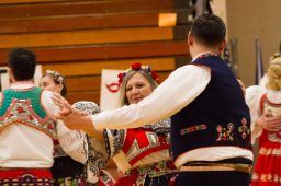 The Moravian Cultural Society performs traditional dances during the 12th Annual Sokol Spirit Exhibition at Riverside-Brookfield High School on March 5. | Stacey Rupolo/Contributor