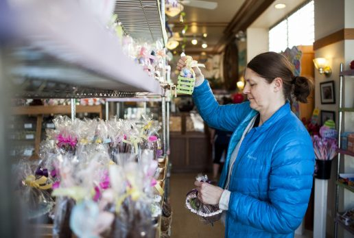 Luce Castello browsing for Easter candy at Aunt Diana's Old Fashioned Fudge.   William Camargo/Staff Photographer