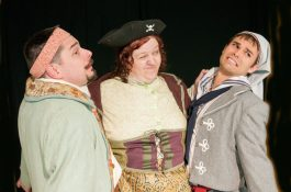 """Gerald Kelel, Kat Dalin and Jonathan Wilson star in the North Riverside Players' production of """"The Pirates of Penzance"""" (Photo provided)"""