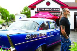"""John Down brought in his 1957 Chevy 150 nicknamed """"Show Down"""" to the first Cruise Night of the summer in downtown Riverside on June 9. Down has owned the classic car for 38 years. 