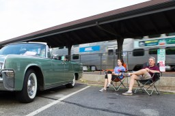 Scott and Grace Taber sit by their '63 Lincoln Continental. | Stacey Rupolo/Contributor