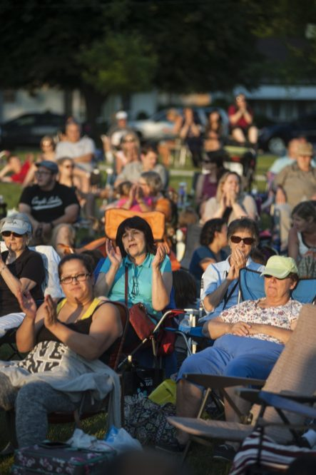 "Fans clap to ""She Loves You"" from Brit Beat, a Beatles tribute band featured on June 24 during Brookfield's Friday Night Outdoor Concert Series in Kiwanis Park. 