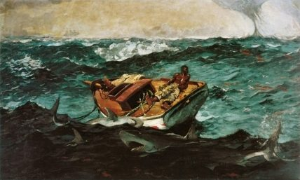 Winslow Homer's Gulf Stream, painted in 1899.