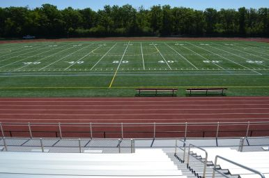 Fenwick High School will play all of its home football games at Triton College now through May 26. The New football stadium (which holds about 1,500 spectators) features a track, lights, seating, locker rooms and concession stands. (File photo)