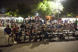 A crowd enjoys watching Student Body during the end of Autumn Fest. | William Camargo/Staff Photographer