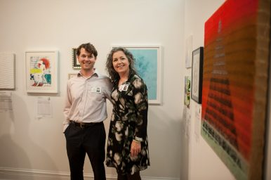 Troy Klyber and Kim Piotrowski organized the art auction and exhibition for the Riverside Arts Center's annual fundraising gala, RAC the House, held on Saturday, Oct. 1 in downtown Riverside. | William Camargo/Staff Photographer
