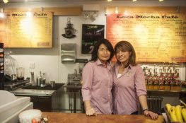 Silvia Mancilla and Maria Verduzco plan to expand Loca Mocha into the Prairie Avenue train depot next spring and maintain their shop north of the tracks on Brookfield Avenue. | William Camargo/Staff Photographer