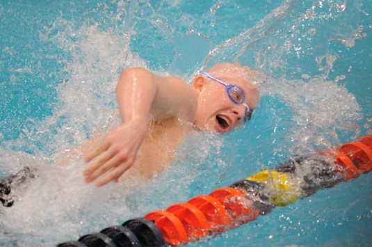 LTHS junior Spencer Walker was sixth in the 100 backstroke and eighth in the 500 free at the state meet last year. He figures to compete in both again, along with the medley and 400 free relays. (Photo by Patrick Gorski)