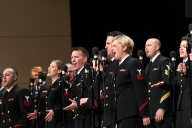 The Riverside-Brookfield High School Music Department presents the United States Navy Band Sea Chanters, the service branch's official chorus, on Saturday, April 23 at 3 p.m. at the high school, 160 Ridgewood Road in Riverside. | Courtesy of www.flickr.com