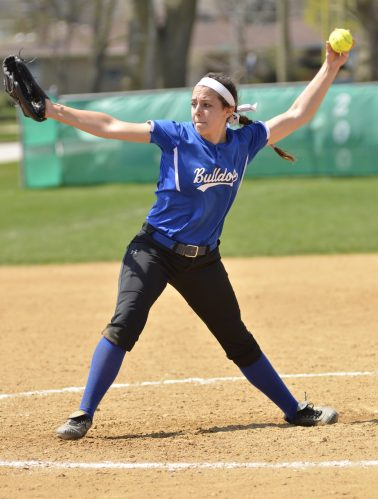Highly touted RBHS freshman Nadia Ranieri has been a welcomed addition for the Bulldogs. She is a very talented left-handed pitcher who is already being scouted by several Division I college softball programs. (Photo by Toan Ngo)