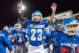 """The RBHS football program has a rich tradition of talented teams, players and coaches. """"The Return"""" on Saturday, July 15 (between 4 p.m.-5:45 p.m.) at Kennelly Stadium is a community event created to let the Bulldogs and their fans celebrate 100 years of RBHS football. (File Photo)"""