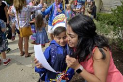 Ethan Avila, 7, hugs his mother, Maria Avila, after dismissal from the first day of school on Thursday, Aug. 24, outside of Central Elementary School in Riverside. Ethan also celebrated his seventh birthday. | Alexa Rogals/Staff Photographer