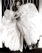 Sally Rand during her scandalous fan-dancing heyday in the 1930s.