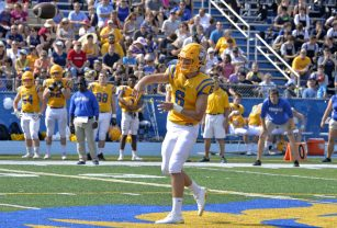 LTHS senior quarterback Ben Bryant completed 13 of 21 passes for 219 yards and three touchdowns to power the Lions past Proviso West 35-20 on Saturday, Sept. 16 in Western Springs. (Alexa Rogals/Staff Photographer)
