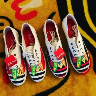 Hand-painted shoes by Hinsdale artist Nathan Freed.