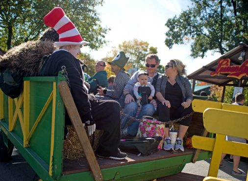 Participants ride a haunted hayride on Oct. 21, during the Boo at the Zoo event at Brookfield Zoo. | Alexa Rogals/Staff Photographer